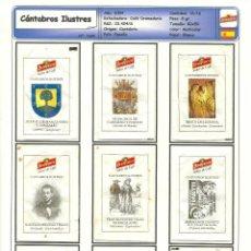Sobres de azúcar de colección: 1694 SERIE SOBRES DE AZÚCAR: CÁNTABROS ILUSTRES. EST. : CAFÉ DROMEDARIO 16/16. Lote 105930663
