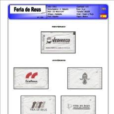 Sobres de azúcar de colección: 0598 SERIE SOBRES DE AZÚCAR: FIRA DE REUS 2011. EST. : A. BALCELLS 6/6. Lote 107325723