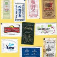 Sobres de azúcar de colección: LOTE 1: 10 SOBRES AZÚCAR. . Lote 108087323