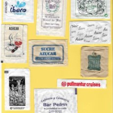 Sobres de azúcar de colección: LOTE 9: 10 SOBRES AZÚCAR. . Lote 108099847
