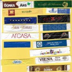 Sobres de azúcar de colección: LOTE 10: 20 SOBRES AZÚCAR. . Lote 108102831