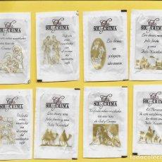 Sobres de azúcar de colección: 0255 SERIE SOBRES DE AZÚCAR: NAVIDAD 2008. CAFÉ SOL Y CREMA. EST. : AZÚCARES ANTOÑIN 8/8. Lote 109167059