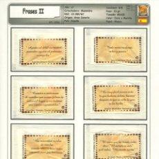 Sobres de azúcar de colección: 1923 SERIE SOBRES DE AZÚCAR : FRASES MANINIDRA. FRASES II. EST. :MANINIDRA 8/8. Lote 109167639