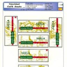 Sobres de azúcar de colección: 0092 SERIE SOBRES DE AZÚCAR: NAVIDAD 2008. CAFÉ SAULA. EST. : LA CIAL DEL SUCRE 6/6. Lote 109167975