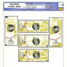Sobres de azúcar de colección: 0314 SERIE SOBRES DE AZÚCAR: NAVIDAD 2008. CAFÉS SOLÉ. EST. : LA CIAL DEL SUCRE 5/5. Lote 109168487