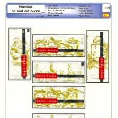 Sobres de azúcar de colección: 0209 SERIE SOBRES DE AZÚCAR: NAVIDAD 2008. EST. : LA CIAL DEL SUCRE 6/6. Lote 109168539