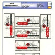 Sobres de azúcar de colección: 0093 SERIE SOBRES DE AZÚCAR: NAVIDAD 2008. EXCLUSIVAS ESTELLES. EST. : LA CIAL DEL SUCRE 6/6. Lote 109168643