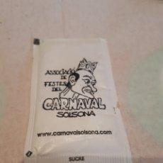 Sobres de azúcar de colección: SOBRE DE AZUCAR. CARNAVAL DE SOLSONA. RARO. Lote 112103286