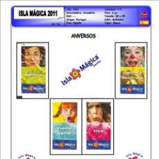 Sobres de azúcar de colección: 0716 SERIE SOBRES DE AZÚCAR: ISLA MAGICA 2011. EST. : DELTA CAFÉS 4/4. Lote 232019090
