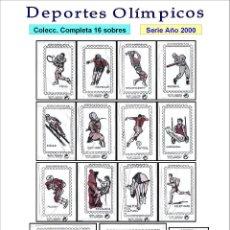 Sobres de azúcar de colección: DEPORTES OLÍMPICOS.- 16 SOBRES DE AZÚCAR / SERIE COMPLETA / AÑO 2000. Lote 115177979