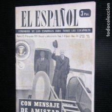 Sobres de azúcar de colección: F1 EL ESPAÑOL Nº 576 AÑO 1959 CON MENSAJE DE AMISTAD MEDIO MUNDO EN LA RUTA DE EISENHOWER. Lote 115243939
