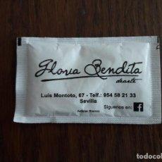 Sobres de azúcar de colección: SOBRE DE AZUCAR LLENO DE RESTAURANTE GLORIA BENDITA, SEVILLA.. Lote 117769051