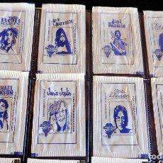Sobres de azúcar de colección: SOBRES DE AZÚCAR - SERIE 8/8 - PALUPA - LEYENDAS DEL ROCK. Lote 119968343