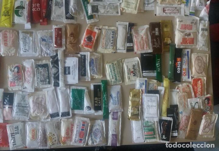Sobres de azúcar de colección: Sobres azúcar. Lote variado, 200 diferentes, años 80 hasta hoy. Todos llenos - Foto 6 - 120862763