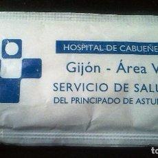 Sobres de azúcar de colección: SOBRE DE AZUCAR HOSPITAL DE CABUEÑES-GIJON(LLENO). Lote 122458879