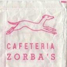 Sobres de azúcar de colección: SOBRE AZUCAR VACIO - CAFETERIA ZORBA S - VALENCIA - CAFES BAHIA - PUBLICIDAD -. Lote 128394415