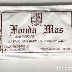 Sobres de azúcar de colección: SOBRE DE AZÚCAR - FONDA MAS, VILALLER, LLEIDA. Lote 130513720