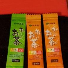 Sobres de azúcar de colección: SOBRES DE TE JAPONESES LLENOS. Lote 133745242
