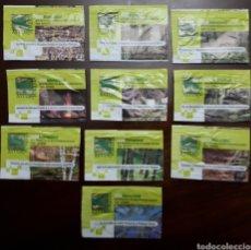 Sobres de azúcar de colección: DIEZ SOBRES DE AZÚCAR ASTUR FORESTA, FERIA INTERNACIONAL (VACIOS). Lote 135371702