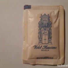 Sobres de azúcar de colección: HOTEL MACARENA, LLENO. Lote 136419658