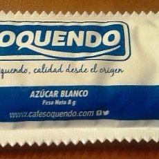 Sobres de azúcar de colección: SOBRE DE AZUCAR CAFES OQUENDO-LLENO. Lote 137754018