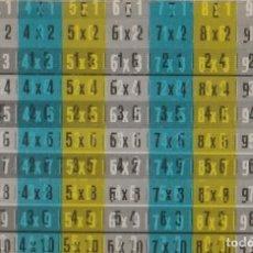 Sobres de azúcar de colección: TABLAS DE MULTIPLICAR - PLASTICO - EFECTO MOVIMIENTO - TAMAÑO 7,5 CM, X 5 CM. - . Lote 138005522