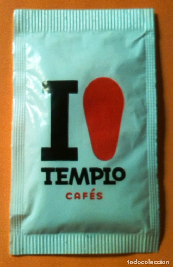 SOBRE DE AZUCAR CAFES TEMPLO (LLENO) (Coleccionismos - Sobres de Azúcar)
