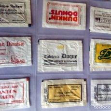 Sobres de azúcar de colección: LOTE 9 SOBRES DE AZÚCAR - ANTIGUOS - VARIADOS - ESPECIAL COLECCIONISTAS - VER FOTOS ADICIONALES. Lote 140452982
