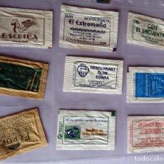 Sobres de azúcar de colección: LOTE 9 SOBRES DE AZÚCAR - ANTIGUOS - VARIADOS - ESPECIAL COLECCIONISTAS - VER FOTOS ADICIONALES. Lote 140453070
