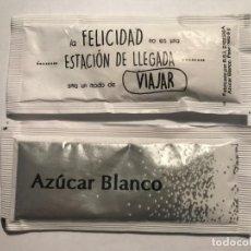 Sobres de azúcar de colección: SOBRE DE AZUCAR SIN USAR, FRASES CELEBRES # 45 VIAJAR // DISPONIBLE:2. Lote 147072796