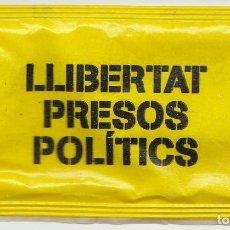 Sobres de azúcar de colección: SOBRE DE AZUCAR VACIO - LLIBERTAT PRESOS POLITICS - PUBLICIDAD - REVERSO - VER FOTO. Lote 145180662