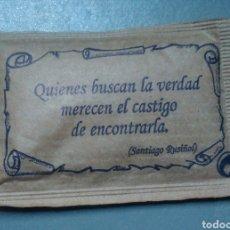 Sobres de azúcar de colección: SOBRE DE AZÚCAR CON FRASE SANTIAGO RUSIÑOL. Lote 146681345