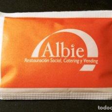 Sobres de azúcar de colección: SOBRE DE AZUCAR ALBIE (LLENO). Lote 147164222
