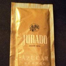 Sobres de azúcar de colección: SOBRE DE AZUCAR CAFE JURADO (LLENO). Lote 147165442