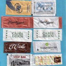 Sobres de azúcar de colección: DIES SOBRES DE AZUCAR TODOS DIFERENTES . Lote 147841026
