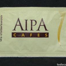 Sobres de azúcar de colección: SOBRE DE AZÚCAR DE AIPA CAFES. Lote 148134940