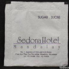 Sobres de azúcar de colección: SOBRE DE AZÚCAR DEL SEDONA HOTEL MANDALAY. Lote 148136281