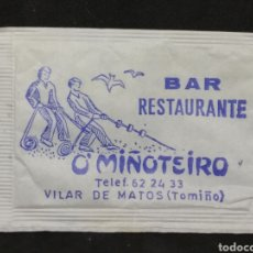 Sobres de azúcar de colección: SOBRE DE AZÚCAR DEL BAR RESTAURANTE O'MIÑOTEIRO DE VILAR DE MATOS (TOMIÑO). Lote 195361518