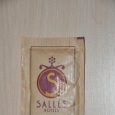 Sobres de azúcar de colección: SOBRE AZUCAR LLENO SALLES HOTEL. Lote 154176482