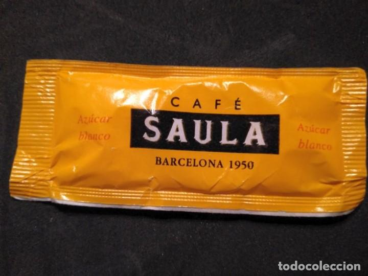 Sobres de azúcar de colección: SOBRE DE AZUCAR LLENO CAFES CAFE SAULA Barcelona - Foto 2 - 154535322