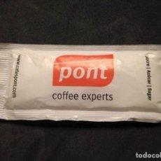 Sobres de azúcar de colección: SOBRE DE AZUCAR LLENO CAFES CAFE PONT SABADELL BARCELONA. Lote 154537958
