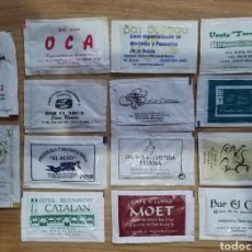 Sobres de azúcar de colección: 14 SOBRES DE AZÚCAR PUERTO REAL CÁDIZ BARES RESTAURANTES HOTELES. Lote 155500820