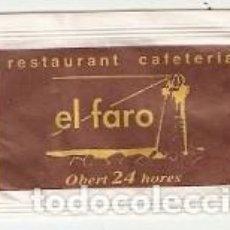 Sobres de azúcar de colección: SOBRE AZUCAR. REST. CAFETERÍA EL FARO. VALLFOGONA DE BALAGUER. LÉRIDA. REF. 25-1368. Lote 156002150