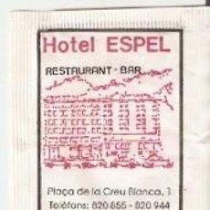 Sobres de azúcar de colección: SOBRE AZUCAR. HOTEL ESPEL. ELCALDES. ANDORRA. REF. 25-1372. Lote 156002546
