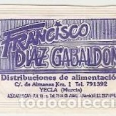 Sobres de azúcar de colección: SOBRES AZUCAR. FRANCISCO DÍAS GABALDON. DISTRIBUCIONES. 4 DIFERENTES. REF. 25-1375. Lote 156003042