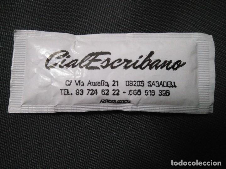 Sobres de azúcar de colección: SOBRE DE AZUCAR LLENO CAFES CAFE TEMPLO CialEscribano Sabadell Barcelona - Foto 2 - 159426610