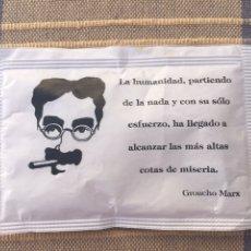 Sobres de azúcar de colección: SOBRE DE AZÚCAR GROUCHO MARX. Lote 164227565