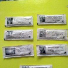 Sobres de azúcar de colección: LOTE SOBRES DE AZÚCAR FRASES. Lote 164754598