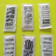 Sobres de azúcar de colección: LOTE SOBRES DE AZÚCAR FRASES. Lote 164754722