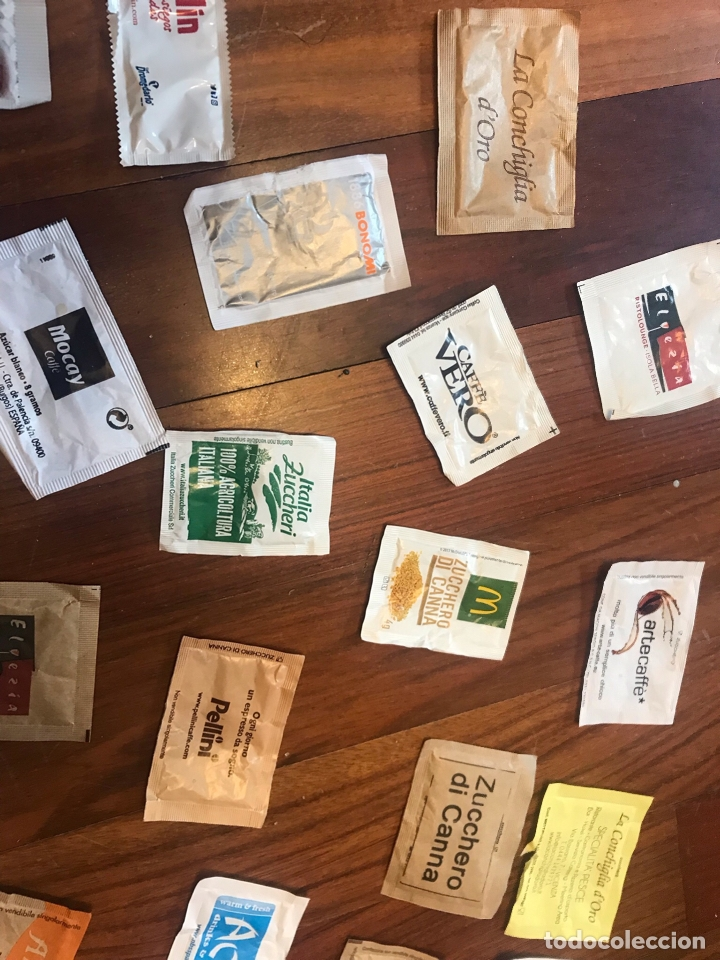 Sobres de azúcar de colección: Lote de 38 sobres de azucar diferentes - Foto 4 - 164907094